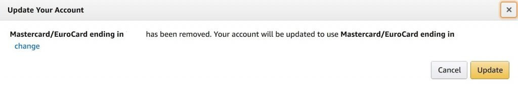 amazon update your account